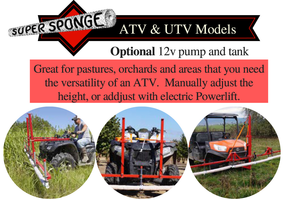 Super Sponge Weed Wipers - ATV/Front Bucket