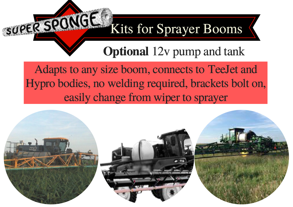 Super Sponge Weed Wipers - Sprayer Boom Kits